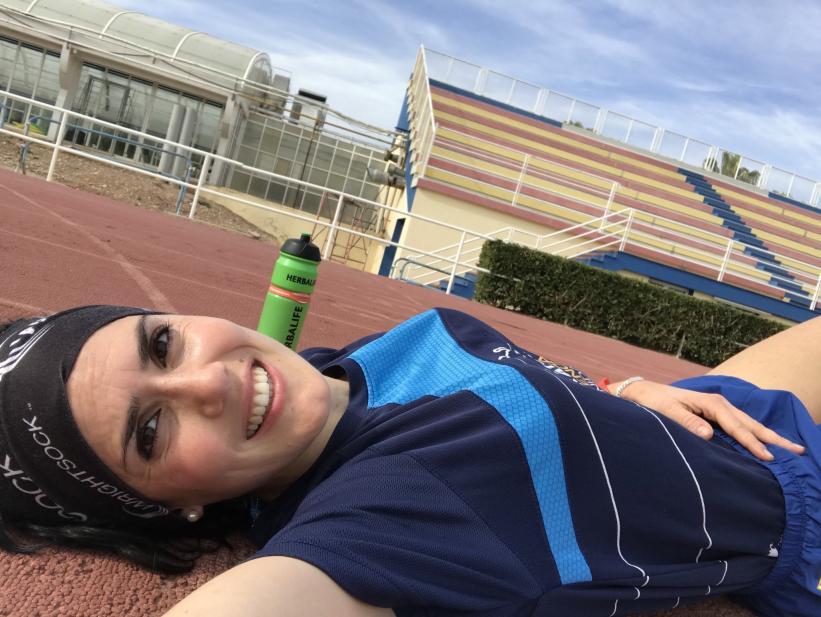 Maje comparte en Twitter imágenes de sus carreras, entrenamientos y su vida diaria.